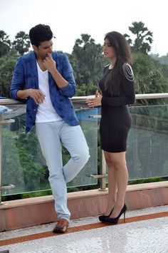 Kritika Kamra and Karan Kundra spotted shooting for MTV Webbed 2.