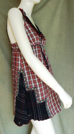 altered clothing | Altered couture mini dress tunic upcycled clothing by ... | Embelish ...