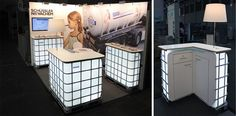 """IBC TOTES: German Design firm - Messedesign - has some pretty futuristic ideas on how to """"repurpose"""" IBC Totes!"""