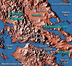 416_ThermopylaeMap01.jpg (440×402) The 300 Spartans