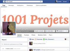 Le blog 1001 projets est (enfin!) sur Facebook