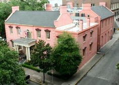 The Olde Pink House sits on Reynolds Square in Savannah, GA