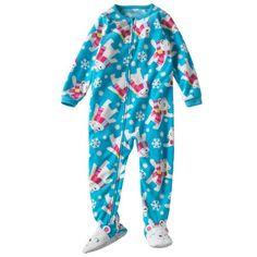 Carter's Toddler Girls Winter Polar Bear Fleece Footed Sleeper Pajamas