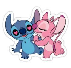 Stitch And Angel Sticker