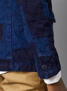 Garbstore Patch Work Denim Blazer in Blue for Men (denim) - Lyst