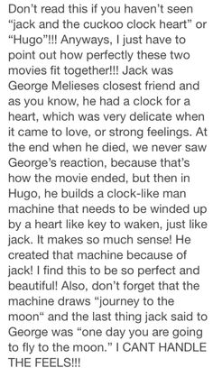 please read this!! ❤ (only if you've seen Hugo or jack and the cuckoo clock heart)