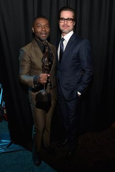 Pin for Later: Schluss mit den ruhigen Festtagen! Die Stars feiern beim Palm Springs Film Festival David Oyelowo und Brad Pitt