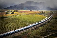 The glorious 2 day Rovos Rail luxury train journey from Cape Town to Pretoria offers the best in vintage & romantic train travel. Book with Cedarberg Africa East Cape, Victorian Village, Train Service, Night Train, Train Journey, Train Travel, Africa Travel, Holiday Travel, Around The Worlds