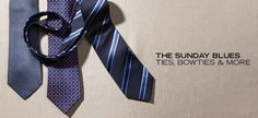The Sunday Blues: Ties, Bow Ties & More - http://fancycentral.com/846/the-sunday-blues-ties-bow-ties-more/