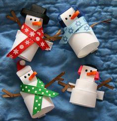 Ribbon snowman clip