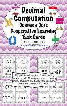 common core math task cards 5th grade interpreting expressions ccss 5 oa a 2 5th grade math. Black Bedroom Furniture Sets. Home Design Ideas