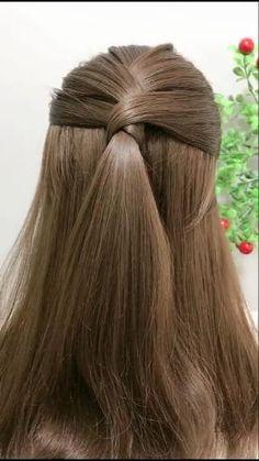 Hairstyles For Medium Length Hair Easy, Open Hairstyles, Beautiful Hairstyles, Party Hairstyles, Princess Hairstyles, Simple Hairstyles For Girls, Easy Wedding Guest Hairstyles, Quick Hairstyles For School, Brown Hairstyles