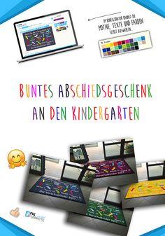 Ein personifiziertes und buntes Abschiedsgeschenk an den Kindergarten ❤️❤️❤️ Wähle Farbe - Motive - Namen Auf >>> www.fix-fussmatte.de