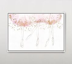 With artistic lines and calming colors, this beautiful artwork captures the elegance of ballet dancers in motion. It makes for the perfect finishing touch for your little dancer's room. Map Wall Art, Art Wall Kids, Pottery Barn Kids, Pottery Art, Home Ballet Studio, Calming Colors, Little Ballerina, Good Night Moon, Wall Art Designs