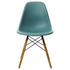 Eames DSW Side Chair, Ocean. These are the ones that are going in my kitchen. Just can't decide if I want the wooden legs or the metal ones. -nb