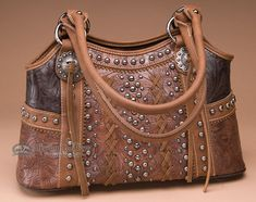 Designer Western Style Purse -Brown - Mission Del Rey Southwest