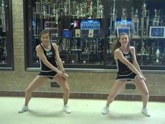 Erath High School Cheerleading Tryout Dance:  Front View