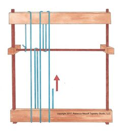 Warping pattern for a continuous tapestry warp Weaving Tools, Tablet Weaving, Weaving Projects, Weaving Art, Loom Weaving, Hand Weaving, Inkle Loom, Tapestry Loom, Dorm Tapestry