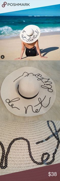 """New* Do Not Disturb * Beach Hat Brand new, no tags. Perfect condition!  """"Do Not Disturb"""" written in cursive along the brim. A MUST for this summers beach festivities!  Offers welcome! Accessories Hats"""