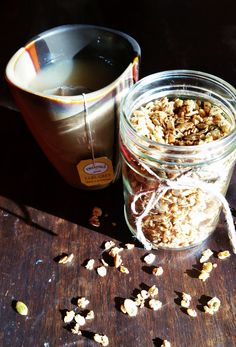 Combine two great things for breakfast with this sweet, crunchy Earl Grey granola!
