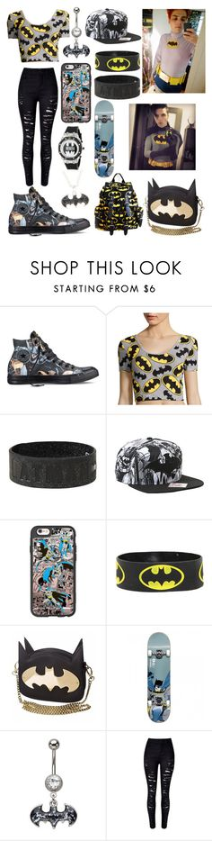 """""""Batman #2"""" by alice-killjoy01 ❤ liked on Polyvore featuring Converse, Casetify and WithChic"""