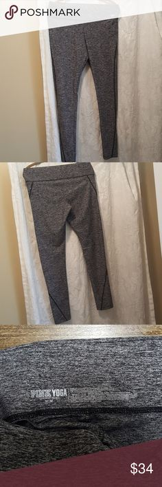 VS PINK Fleece Lined Leggings NWOT VS PINK Fleece Lined Leggings NWOT.  Heathered charcoal full-length leggings. Extremely warm to wear for outdoor workouts, or simply to keep warm lounging around. PINK Pants Leggings