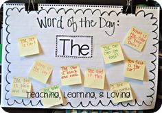 Teaching activities I'm going to share with you some fun and engaging ways to teach sight words. I mentioned in this post , that I LOVE teaching sight wor. Teaching Sight Words, Sight Word Practice, Sight Word Activities, Sight Word Wall, Sight Word Sentences, Word Study, Word Work, The Words, Daily 5
