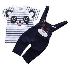 $5.00 (Buy here: https://alitems.com/g/1e8d114494ebda23ff8b16525dc3e8/?i=5&ulp=https%3A%2F%2Fwww.aliexpress.com%2Fitem%2FBaby-Boys-Outfits-Cute-Panda-Style-Clothes-Sets-Summer-Sets-Casual-Stripe-T-shirt-Tops-Braces%2F32724690375.html ) Baby Boys Outfits Cute Panda Style Clothes Sets  Summer Sets Casual Stripe T-shirt Tops+Braces Long Pants 2PCS Set for just $5.00