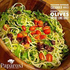 Dinner tonight! Really fresh and delicious #zoodles #veggies #rawvegan #paparoxi