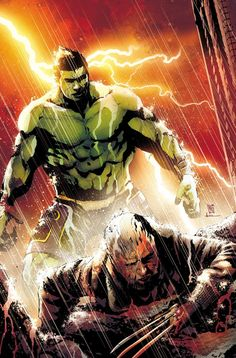 Old Man Logan vs. The Hulk - Andrea Sorrentino