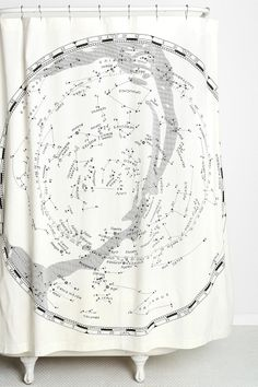 Magical Thinking Constellation Map Shower Curtain #URBANOUTFITTERS