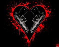 Photo of Guns & hearts for fans of Gothic 30737845 Iphone Wallpaper Tumblr Aesthetic, Pink Wallpaper Iphone, Heart Wallpaper, Gothic Vampire, Dark Gothic, Vampire Art, Gothic Pictures, Southern Baby, Allah Wallpaper