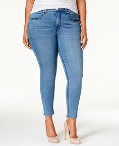 Melissa McCarthy Seven7 Plus Size Comet Blue Wash Pencil Jeans - Jeans - Plus Sizes - Macy's