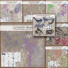 CU collection Brushes Florju #CUdigitals cudigitals.com cu commercial digital scrap #digiscrap scrapbook graphics