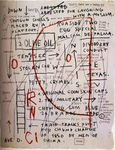Jean-Michel Basquiat. Olive Oil, 1982.