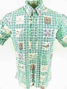 48c3d5c8 Vintage 80s Reyn Spooner Men Shirt Large Christmas Gold Label 1988 Hawaiian  Noel