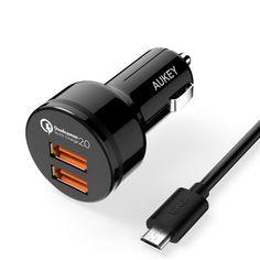 Chargeur Auto AUKEY (Quick Charge 2.0 AiPower 2 Ports USB)  Câble Micro USB 1m à 6.99 Bonjour  Bon plan sur ce chargeur allume cigare Aukey compatible Quick Charge 2.0 AiPower et qui dispose de 2 ports USB.  Il est dispo à 6.99 au lieu de 10.99 profitez en !!!  Chargeur Auto AUKEY à 6.99  Code Promo : HZUAO44U    Spécifications :  AUKEY Avantage: No.1 Marque de Quick Charge à Amazon  Certifié par Qualcomm Bonne qualité en garantie de 24 mois. Compatible avec tous les appareils: Android…
