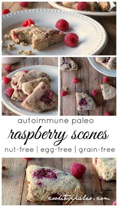 AIP Scones with Raspberries made with Otto's Naturals Cassava Flour   Cook It Up Paleo