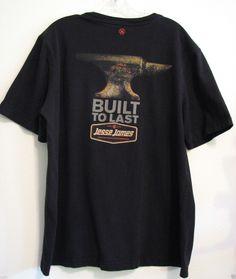 Jesse James Industrial WorkWear Black L Sturdy Work T Shirt Anvil Built to Last | eBay