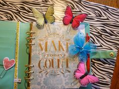 Handmade Butterfly Planner Clips and by LuminaSpiritCreation