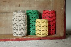 Crochet Jar Cozy: free home decor crochet pattern