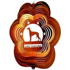 """12"""" Greyhound - Copper Starlight Wind Spinner. #greyhound"""