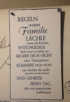 """Familie. Regeln ""Wandschild Deko Shabby Vintage"