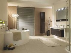 Luxus-modernen-Badezimmer-mit-Eitelkeit-Schrank-und-Eckbadewanne