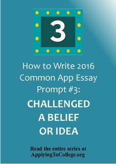 how to write a common app essay By j9robinson | jun 5, 2013 | common app: prompt 2, common application, the common app how to write a college app essay (click lightbulb for details.