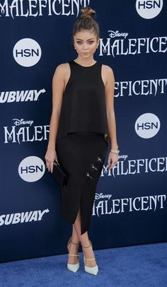 """Sarah Hyland arrives at the world premiere of Disney's """"Maleficent"""" at the El Capitan Theatre in Hollywood on May 28, 2014."""
