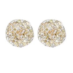 Pitter Patter  18K White Gold Earrings Gold: 8.60 gms Fancy Color Diamonds: 2.71 cts