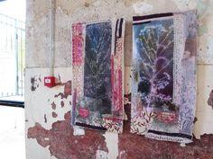 Circuta Virosa Installation Parc Du Monod 'Common Threads, Common Land' first shown at art textil sent in Switzerland continues in Le. Cas Holmes, Lace Window, Environmental Art, Textile Artists, Community Art, Fabric Art, Fiber Art, Collaboration, Textiles