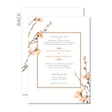 Fine Forsythia Wedding Cards