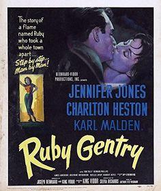 Charlton Heston and Jennifer Jones in Ruby Gentry Turner Classic Movies, Classic Films, Classic Books, Old Movies, Vintage Movies, Robert Walker Jr, Leap Year Babies, Karl Malden, Jennifer Jones